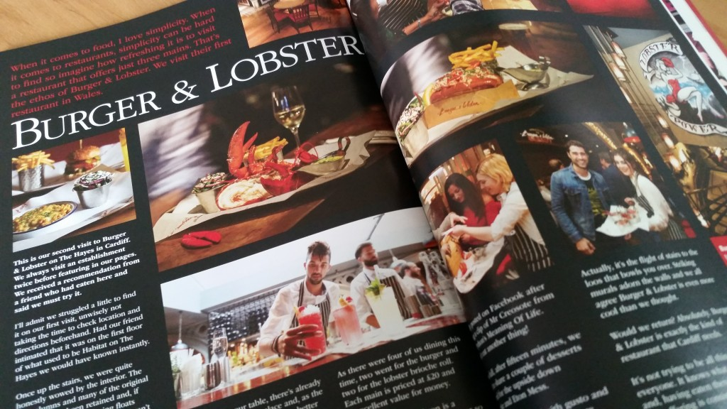 Burger & Lobster, Vale Life Magazine