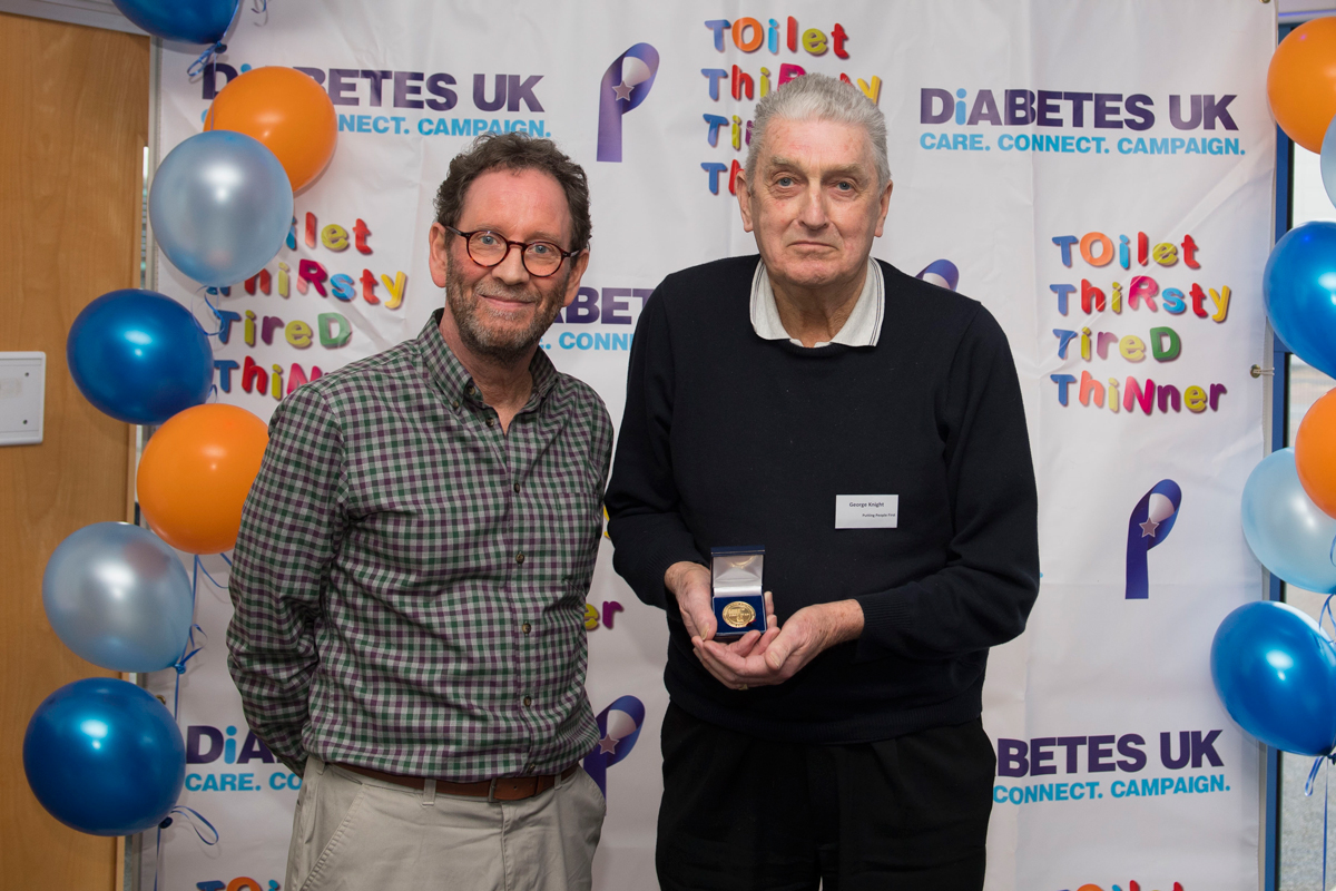 Diabetes-UK-Cymru's-Director-Dai-Williams-with-George-Knight