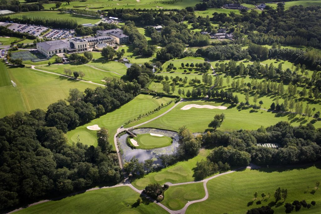 Aerial shot of the award-winning course