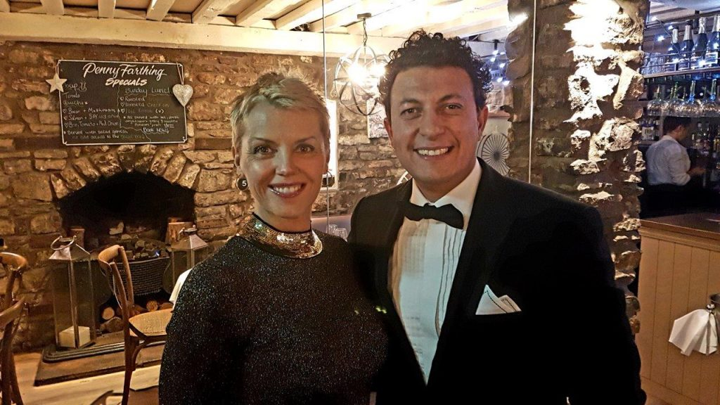 Vale Life Editor, Jennifer Hobbs Roberts, with dashing host Mohammed El Kilany
