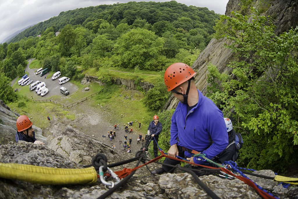 Rock climbing & abseiling 'Call of the Wild' Neath & Brecon Beacons Corporate team building South Activities & Sports