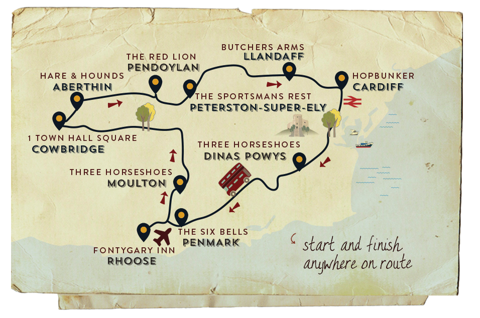 Real Ale Trail Map