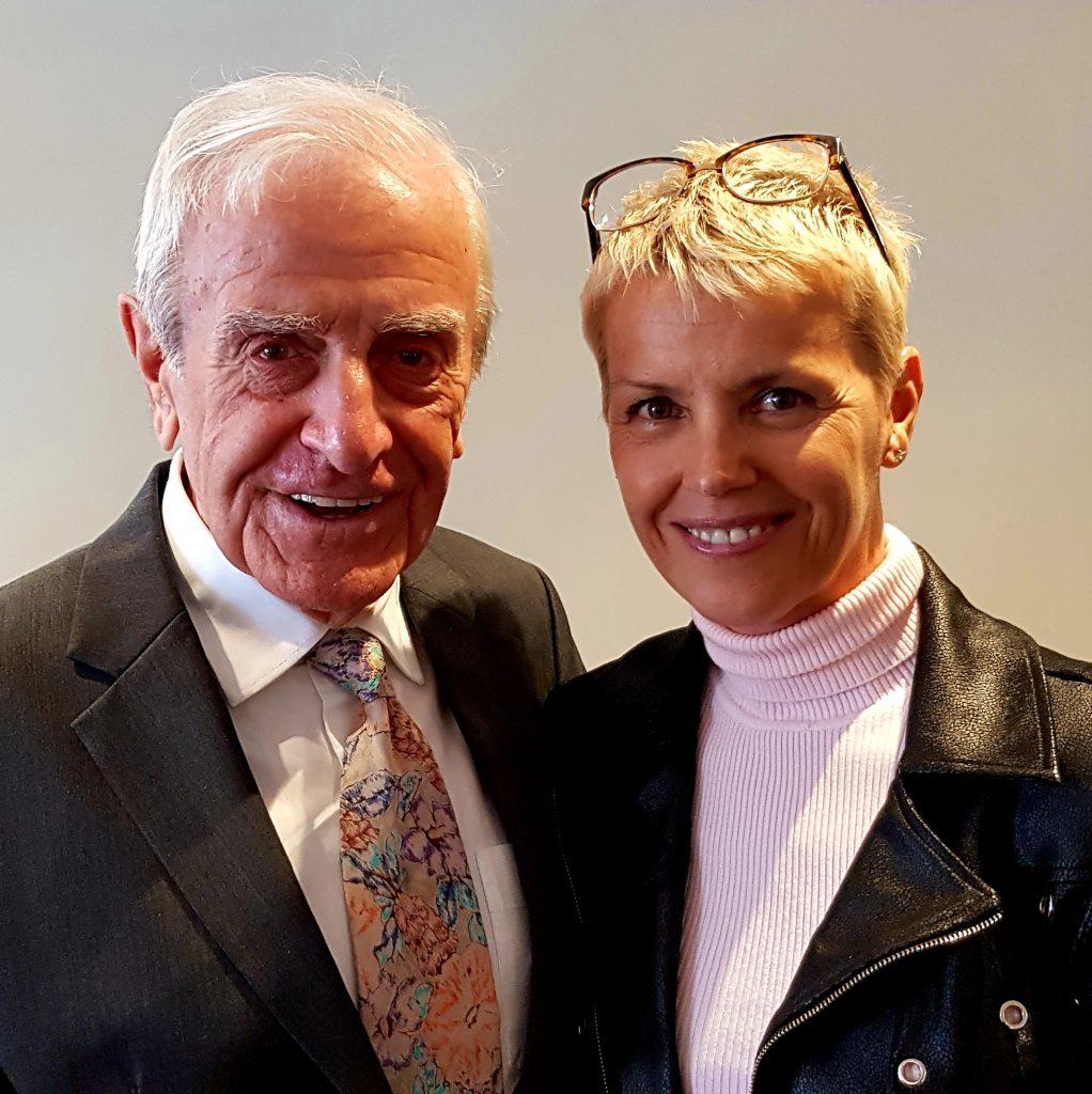 Jennifer Hobbs-Roberts with Vincent Kane OBE