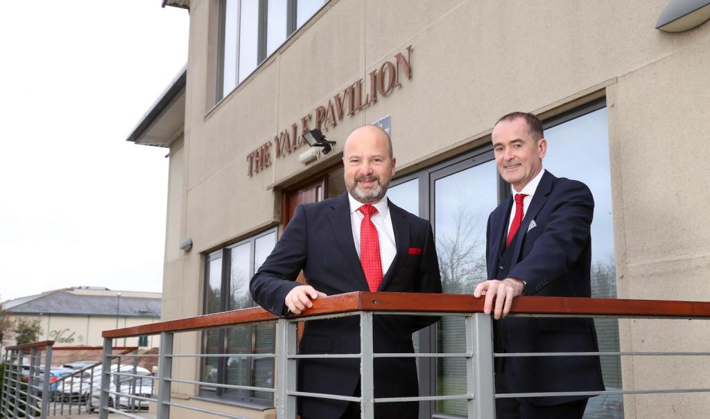 (l-r) Jonathan Ford, chief executive of the FAW and Stephen Leeke, managing director of the Vale Resort 1