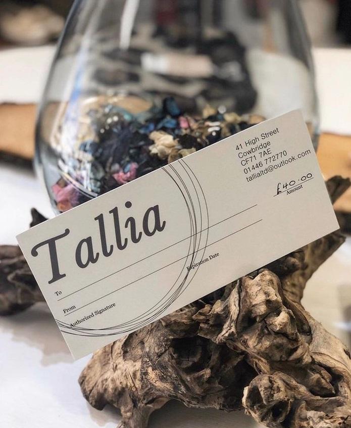 Tallia Gift Voucher